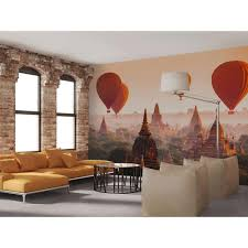ideal decor 144 in w x 100 in h balloons over bagan wall mural h balloons over bagan wall mural