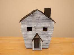 mommy minutes cardboard and popsicle stick haunted house