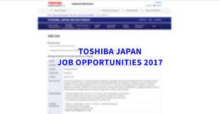 Upholstery Job Vacancies Toshiba Japan Job Openings November 2017 Japan Ofw