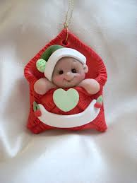 baby s ornament personalized baby gift polymer clay