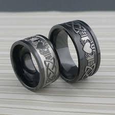 black zirconium wedding bands claddagh celtic knot wedding ring
