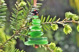 genuine sea glass delightful tree ornament package decor