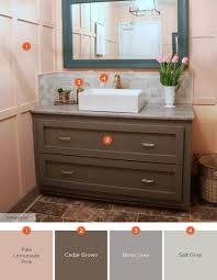 what color goes with brown bathroom cabinets 20 relaxing bathroom color schemes shutterfly