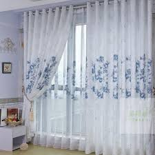 White Cotton Curtains White Cotton And Poly Blended Printed Curtains Buy White Print
