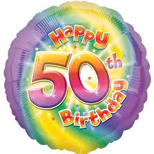 50th birthday balloons delivered colourful 50th birthday balloon delivered inflated in uk