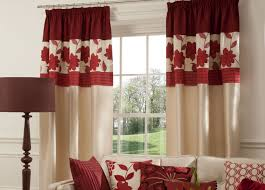 fancy design red curtains living room exquisite decoration