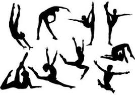 gymnastics cake toppers 9 gymnastic black silhouettes edible a4 icing sheet cake