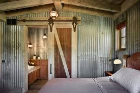 metal barn doors bedroom farmhouse with barn door bedroom
