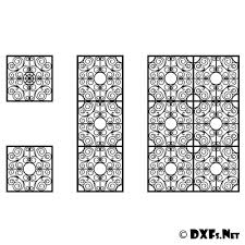dxf183 ornamental panel screen partition cnc dxf file downloads