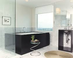 Contemporary Bathtub Faucets Transitional Roller Blinds Bathroom Contemporary With Exposed