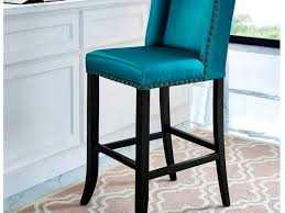 Brown Leather Bar Stool with Blue Leather Bar Stools Fraufleur Com