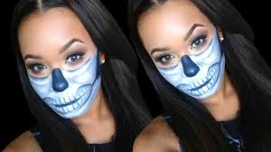 diy half sugar skull halloween makeup tutorial ideas
