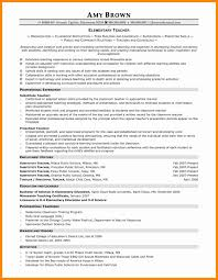 curriculum vitae exle for new teacher 11 new elementary teaching resume exles davidhowald com