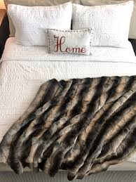 Faux Fox Fur Throw Faux Fur Fake Fur Throw Blanket Comforter Pillow Bedspread Stole