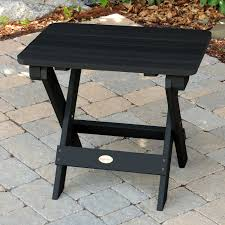 Synthetic Wood Patio Furniture by Folding Adirondack Side Table Outdoor Furniture Patio