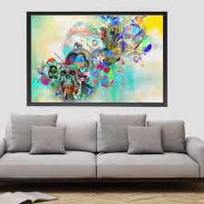 sugar skull home decor cool sugar skull mouse pad day of the dead flower girl sugar skull abstract art print painting fabric poster wall pictures for living room home decoration decor no frame with sugar skull home decor