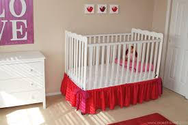 Mini Crib Sheet Tutorial by Baby Crib Skirt A Very Basic One Make It And Love It