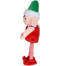 animated plush dancing musical elf christmas decoration