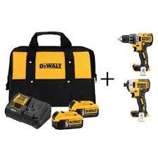 home depot 20v max dewalt compact drill and driver 2 5