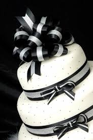 black and white wedding cakes black and white cake with ribbons a wedding cake