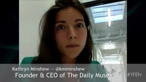 anthropologie founder kathryn minshew ceo of the muse and the daily muse youtube