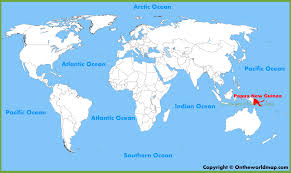 Continent World Map by Papua New Guinea Location On The World Map