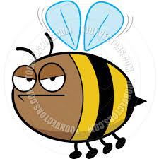annoyed cartoon bee by robin 2d toon vectors eps 80376