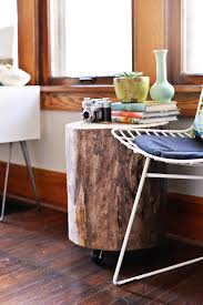 Tree Stump Nightstand Diy Tree Stump Side Table