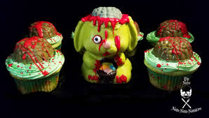 halloween recipe chocolate zombunnies and zombie brain cupcakes