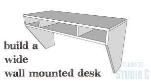 how to build a floating desk a beautiful space saving desk designs by studio c