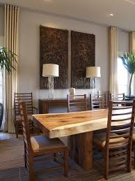 slab dining room table industrial wood table dining room contemporary with wood dining