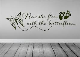 now she flies with butterflies wall decal car decal in zoom