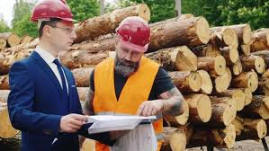 the engineer in a suit and brutal bearded builder together
