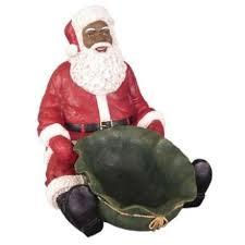 black santa claus figurines the black depot