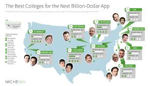Map Of Pennsylvania Colleges by The Best Colleges For The Next Billion Dollar App Niche Ink