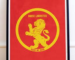 house lannister house lannister etsy