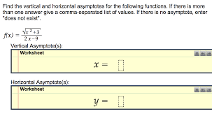 find the vertical and horizontal asymptotes for th chegg com