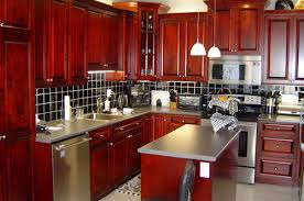 a cherry wood kitchen cabinet cherrywood kitchen cabinets carmellalvpr