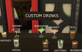 a3ru various drug clutter sims 4 downloads mod the sims custom bar drinks updated 20 jan 2017 sims 4 cc