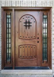 wood and glass exterior doors rustic doors single exterior door knotty alder doors