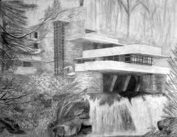 fallingwater drawings tìm với google fallingwater house