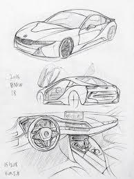 Dodge Challenger Drawing - car drawing 151216 1969 dodge charger prisma on paper kim j h