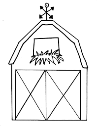 free printable barn templates barn coloring pages