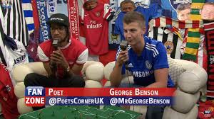the sports fan zone filthyfellas hit sky sports fanzone as poet represents arsenal in