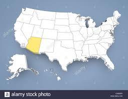 map of the united states with arizona highlighted arizona az highlighted on a contour map of usa united states of