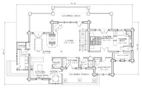 hidden creek craftsman log home floor plan