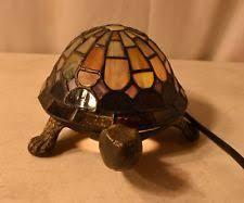 tiffany turtle lamp accent glass light table desk night home decor