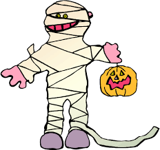 goblin and ghost halloween flashcards for kids