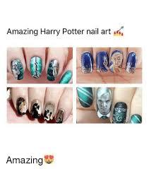 Meme Nail Art - amazing harry potter nail art amazing meme on astrologymemes com