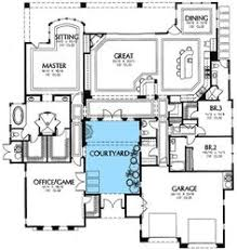 mediterranean floor plans with courtyard strikingly design house plans with courtyards mediterranean 9 plan